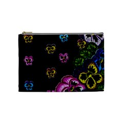 Floral Rhapsody Pt 1 Cosmetic Bag (medium)  by dawnsiegler