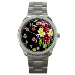 Floral Rhapsody Pt 2 Sport Metal Watch by dawnsiegler