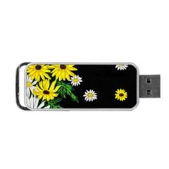 Floral Rhapsody Pt 3 Portable Usb Flash (one Side) by dawnsiegler