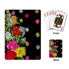 Floral Rhapsody Pt 4 Playing Card by dawnsiegler