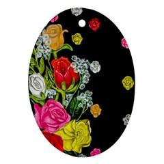 Floral Rhapsody Pt 4 Oval Ornament (two Sides) by dawnsiegler