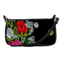 Floral Rhapsody Pt 4 Shoulder Clutch Bags by dawnsiegler
