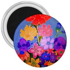 Spring Pastels 3  Magnets by dawnsiegler