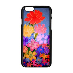 Spring Pastels Apple Iphone 6/6s Black Enamel Case by dawnsiegler