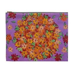 Floral Sphere Cosmetic Bag (xl) by dawnsiegler
