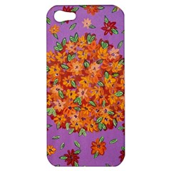 Floral Sphere Apple Iphone 5 Hardshell Case by dawnsiegler