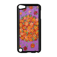 Floral Sphere Apple Ipod Touch 5 Case (black) by dawnsiegler