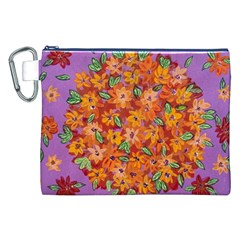 Floral Sphere Canvas Cosmetic Bag (xxl) by dawnsiegler