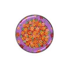 Floral Sphere Hat Clip Ball Marker (4 Pack) by dawnsiegler