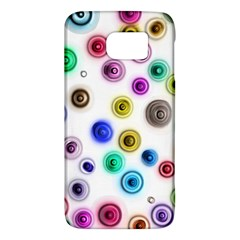 Colorful Concentric Circles        Htc One M9 Hardshell Case by LalyLauraFLM