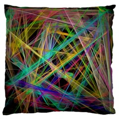 Colorful Laser Lights       Standard Flano Cushion Case (two Sides)