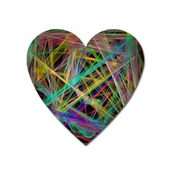 Colorful Laser Lights             Magnet (heart) by LalyLauraFLM