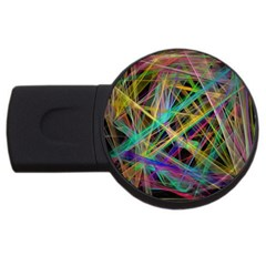 Colorful Laser Lights             Usb Flash Drive Round (4 Gb) by LalyLauraFLM
