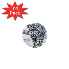 Snow Leopard 1 1  Mini Magnets (100 Pack)  by kostart