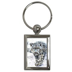 Snow Leopard 1 Key Chains (rectangle)  by kostart