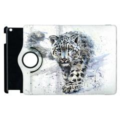 Snow Leopard 1 Apple Ipad 3/4 Flip 360 Case by kostart