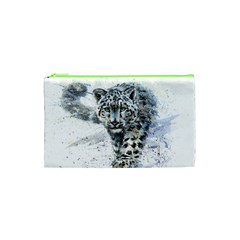 Snow Leopard 1 Cosmetic Bag (xs) by kostart