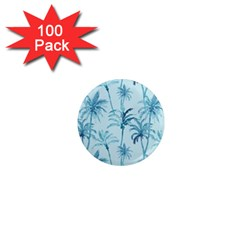 Watercolor Palms Pattern  1  Mini Magnets (100 Pack)  by TastefulDesigns