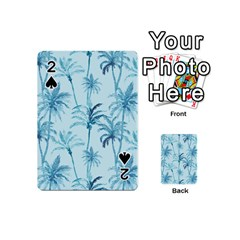 Watercolor Palms Pattern  Playing Cards 54 (mini)  by TastefulDesigns
