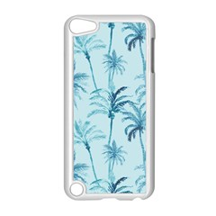 Watercolor Palms Pattern  Apple Ipod Touch 5 Case (white) by TastefulDesigns