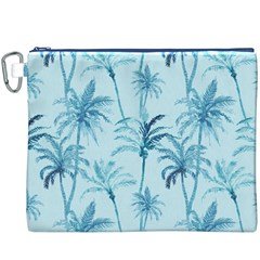 Watercolor Palms Pattern  Canvas Cosmetic Bag (xxxl) by TastefulDesigns