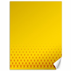 Yellow Star Light Space Canvas 36  X 48   by Mariart