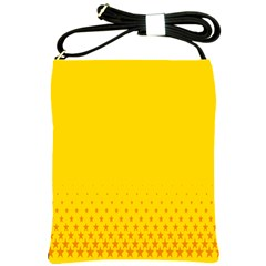 Yellow Star Light Space Shoulder Sling Bags by Mariart