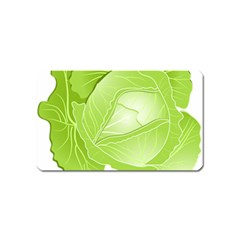 Cabbage Leaf Vegetable Green Magnet (name Card) by Mariart
