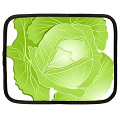 Cabbage Leaf Vegetable Green Netbook Case (large) by Mariart