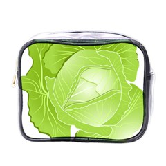 Cabbage Leaf Vegetable Green Mini Toiletries Bags by Mariart