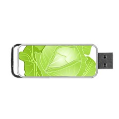 Cabbage Leaf Vegetable Green Portable Usb Flash (one Side) by Mariart