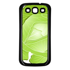 Cabbage Leaf Vegetable Green Samsung Galaxy S3 Back Case (black) by Mariart