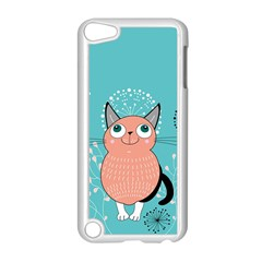 Cat Face Mask Smile Cute Leaf Flower Floral Apple Ipod Touch 5 Case (white) by Mariart