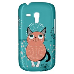 Cat Face Mask Smile Cute Leaf Flower Floral Galaxy S3 Mini by Mariart