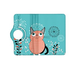 Cat Face Mask Smile Cute Leaf Flower Floral Kindle Fire Hd (2013) Flip 360 Case by Mariart