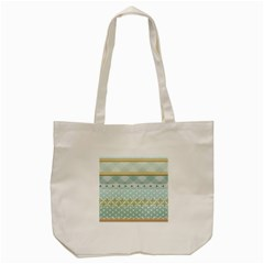 Circle Polka Plaid Triangle Gold Blue Flower Floral Star Tote Bag (cream) by Mariart