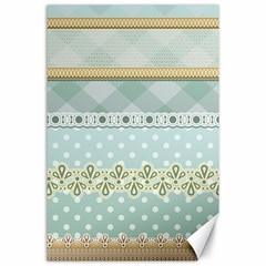 Circle Polka Plaid Triangle Gold Blue Flower Floral Star Canvas 24  X 36  by Mariart