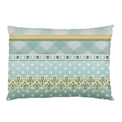 Circle Polka Plaid Triangle Gold Blue Flower Floral Star Pillow Case (two Sides) by Mariart