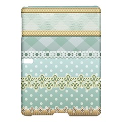 Circle Polka Plaid Triangle Gold Blue Flower Floral Star Samsung Galaxy Tab S (10 5 ) Hardshell Case  by Mariart
