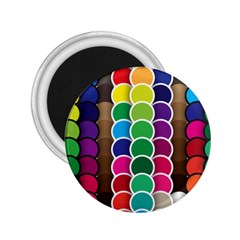 Circle Round Yellow Green Blue Purple Brown Orange Pink 2 25  Magnets by Mariart