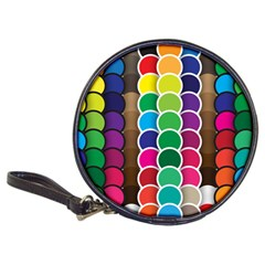 Circle Round Yellow Green Blue Purple Brown Orange Pink Classic 20 Cd Wallets by Mariart