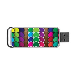 Circle Round Yellow Green Blue Purple Brown Orange Pink Portable Usb Flash (one Side) by Mariart