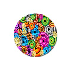 Circle Round Hole Rainbow Magnet 3  (round) by Mariart