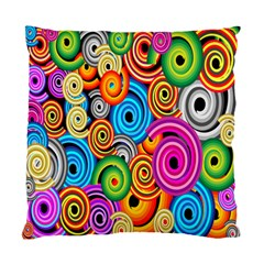 Circle Round Hole Rainbow Standard Cushion Case (one Side) by Mariart