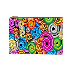 Circle Round Hole Rainbow Cosmetic Bag (large)  by Mariart