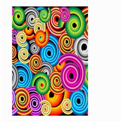 Circle Round Hole Rainbow Small Garden Flag (two Sides) by Mariart