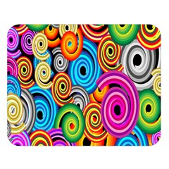 Circle Round Hole Rainbow Double Sided Flano Blanket (large)  by Mariart