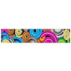 Circle Round Hole Rainbow Flano Scarf (small) by Mariart