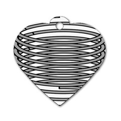 Circular Iron Dog Tag Heart (one Side) by Mariart