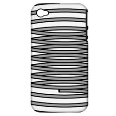 Circular Iron Apple Iphone 4/4s Hardshell Case (pc+silicone) by Mariart